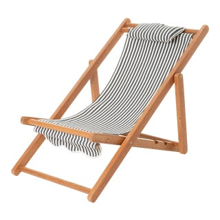 Mini Sling Outdoor Kids Chair - Lauren's Navy Stripe For Sale