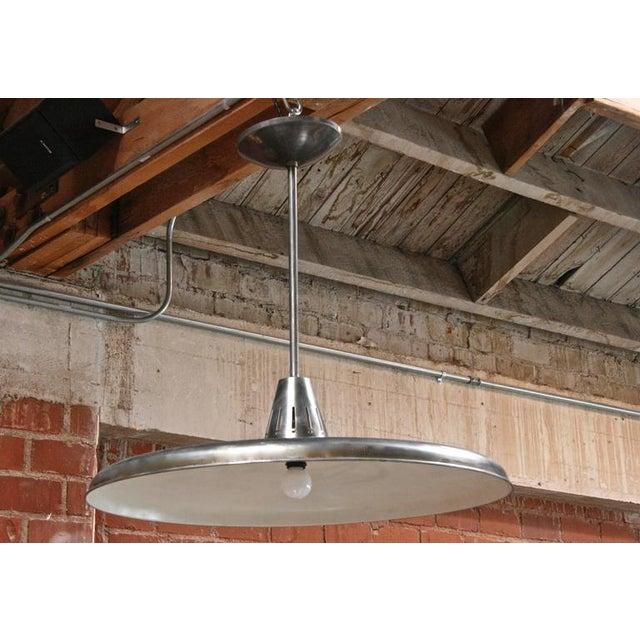 Industrial Three Italian Industrial 1960s Metal Pendant Lights For Sale - Image 3 of 7