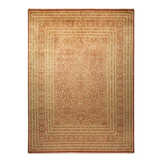 """Mogul, One-Of-A-Kind Hand-Knotted Area Rug - Beige, 9' 2"""" X 12' 5"""" For Sale"""