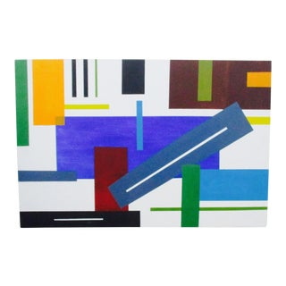Late 20th Century Hard Edge Abstract Painting
