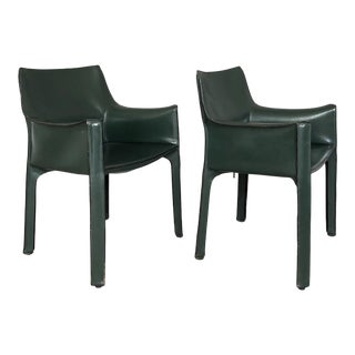 Mario Bellini for Cassina Cab 413 Chairs - a Pair For Sale