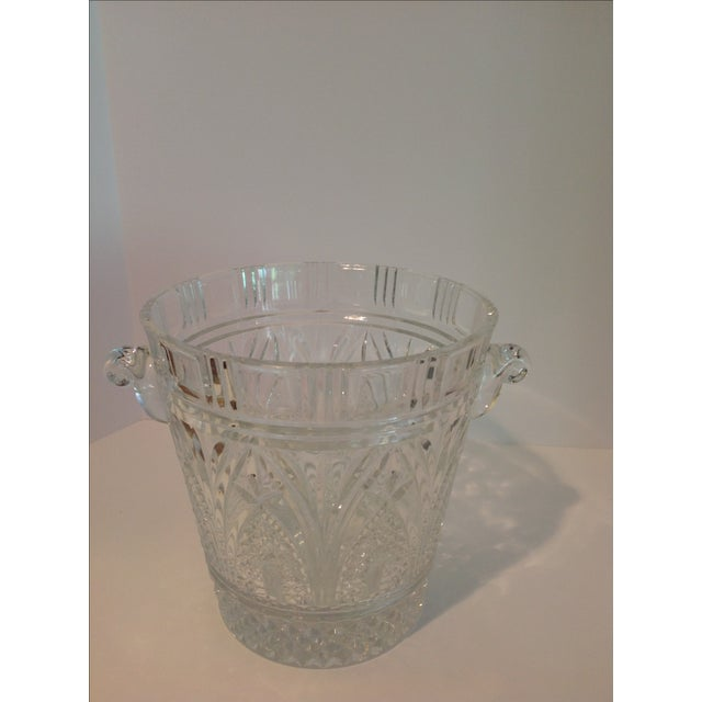 Hollywood Regency Crystal Ice Bucket For Sale - Image 3 of 6