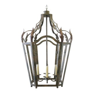20th Century Traditional Iron Lantern Pendant For Sale