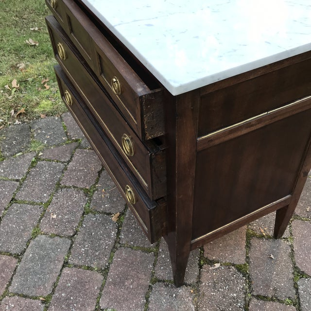 Brown 1960s French Empire Style Commode For Sale - Image 8 of 10
