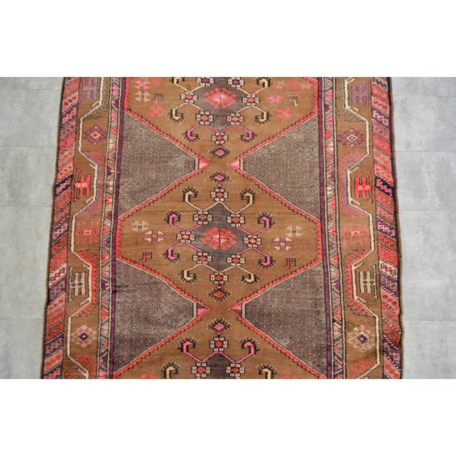 Hand Knotted Natural Colors Tribal Rug - 5′3 ″ x 13′1″ - Image 7 of 10