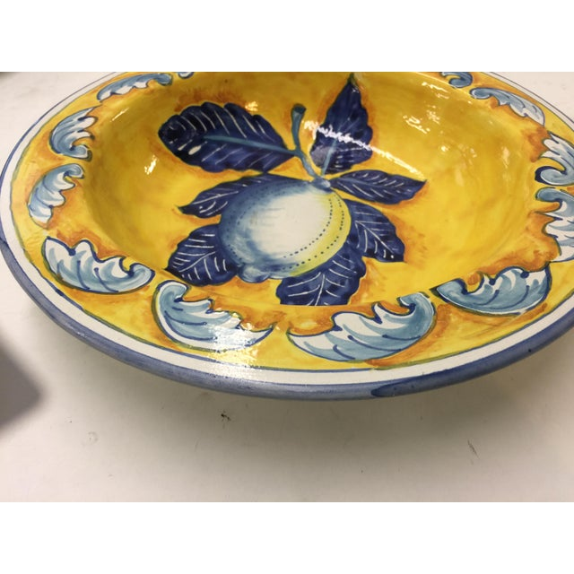 Italian Hand Painted Italian Bowl with Lemons For Sale - Image 3 of 5