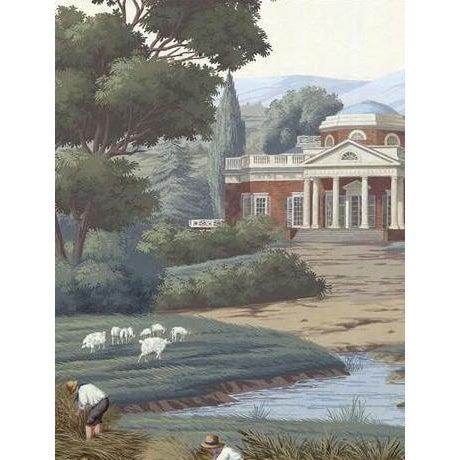 Textile Casa Cosima Chesapeake Wallpaper Mural - Sample For Sale - Image 7 of 7