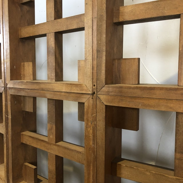 1960s Mid Century Modern Solid Wood Room Divider / Screen For Sale - Image 10 of 13