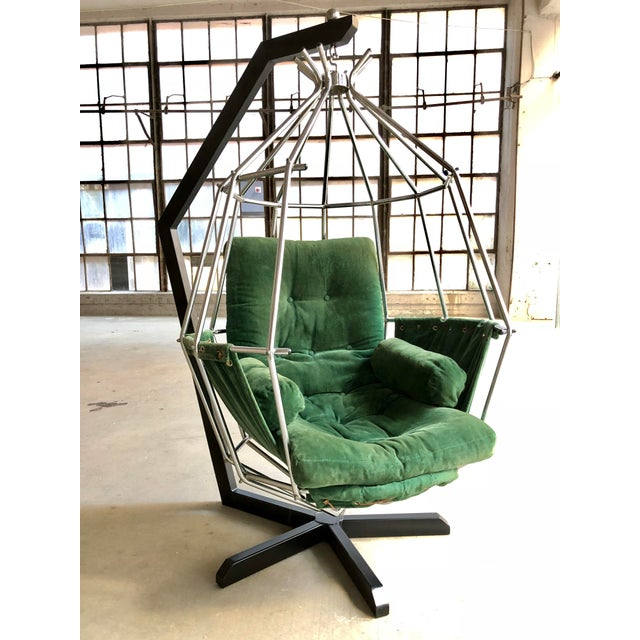 Mid Century Modern Ib Arberg Parrot Chair Hanging Birdcage Chair For Sale - Image 13 of 13