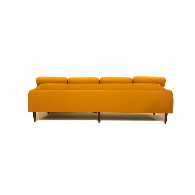 Yellow Mid-Century Modern Couch - Image 7 of 8