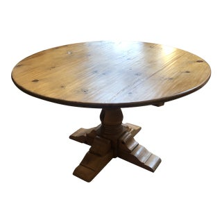 Early 20th Century Pine Pedestal Table For Sale