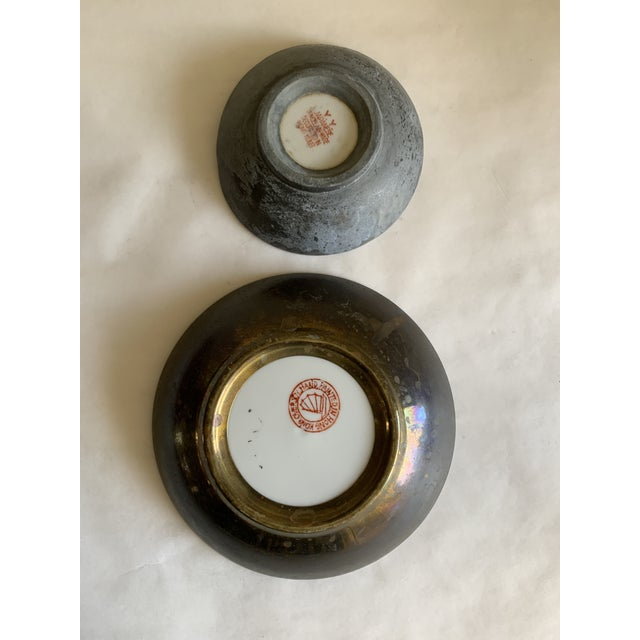 White Midcentury Asian Chinoiserie Decor Trays Bowls For Sale - Image 8 of 12