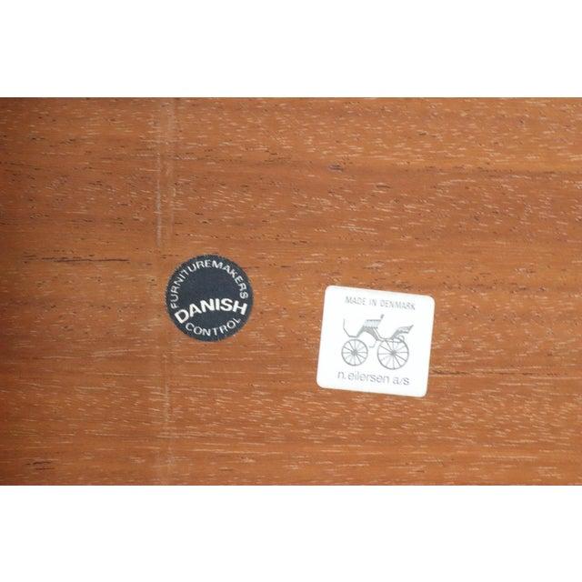 Niels Eilersen Danish Modern Niels Eilersen Solid Teak Side Table For Sale - Image 4 of 5