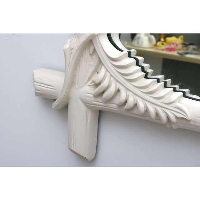 White Gampel - Stoll Faux Bamboo Mirror For Sale - Image 8 of 13