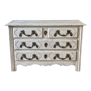 Late 18th Century French Painted Oak Commode For Sale