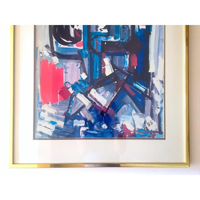 """Abstract Hans Hofmann Rare Vintage 1968 Mid Century Modern Abstract Expressionist Framed Collector's Lithograph Print """" Exuberance """" 1955 For Sale - Image 3 of 13"""