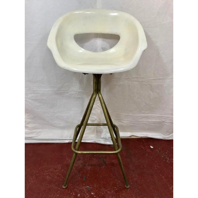 Vintage Mid Century Barstools - Set of 4 For Sale - Image 4 of 10