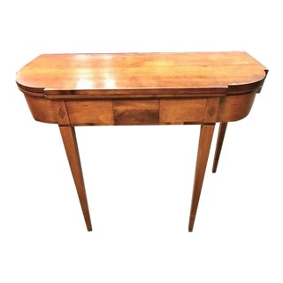 Antique Inlaid Cherry and Maple Hepplewhite Game Table For Sale