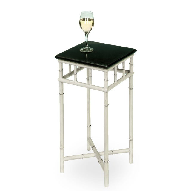 Asian Sarreid LTD Metal & Marble Side Table For Sale - Image 3 of 6