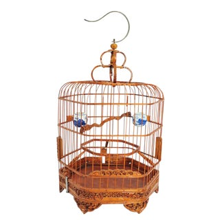 Carved Bamboo Bird Cage