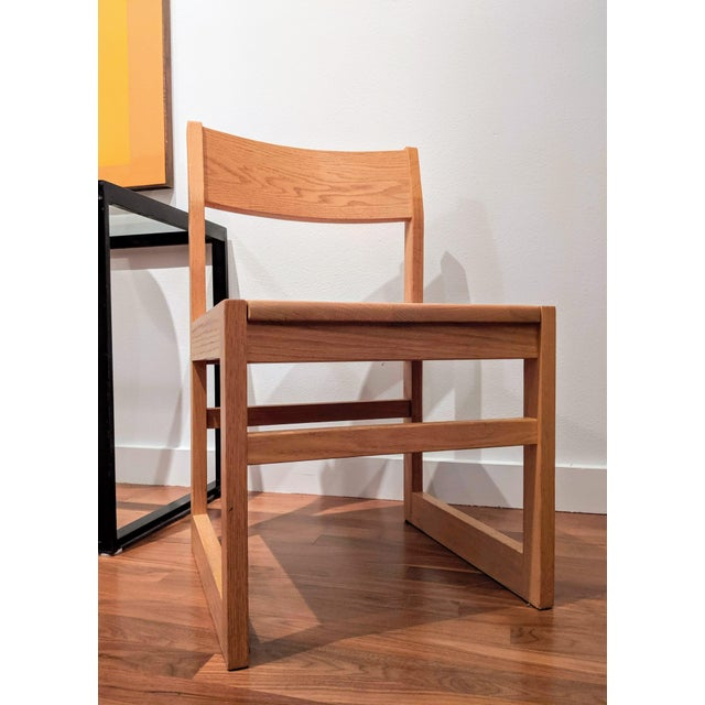 1980s Organic Modernist Minimalist Oak Chairs - Set of 12 For Sale - Image 5 of 10