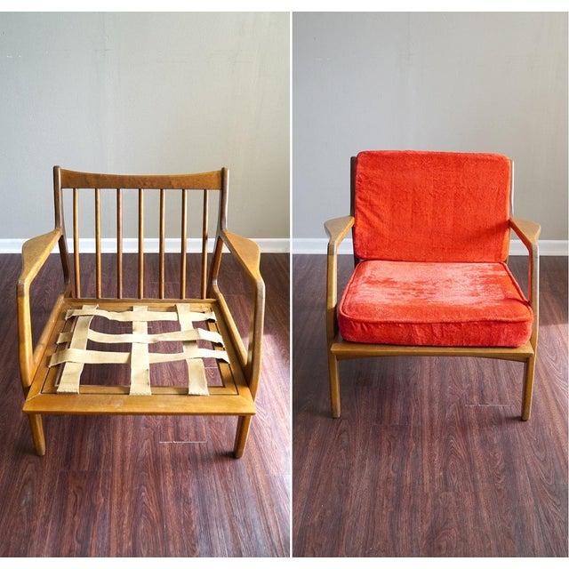 Ib Kofod Larsen Style Mid-Century Danish Modern Lounge Chair - Image 4 of 6