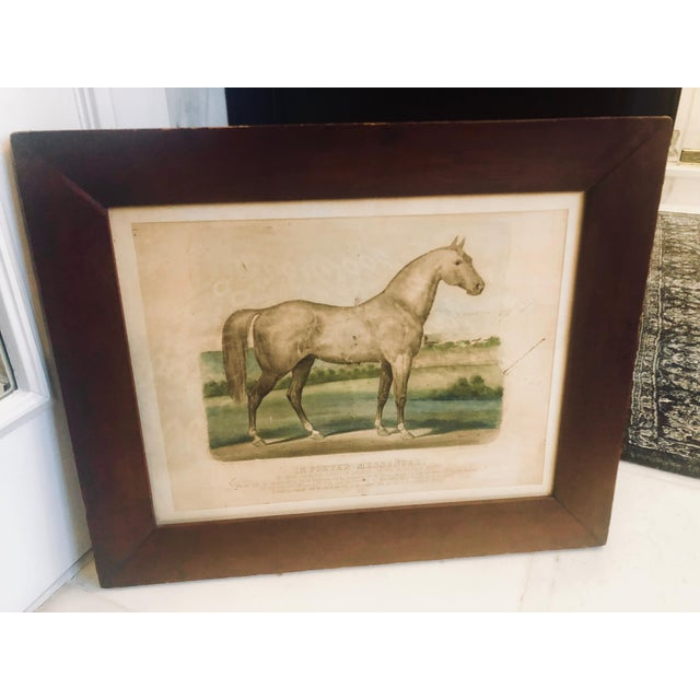 """Americana 19th Century Antique Currier & Ives """"Imported Messenger"""" Equestrian Lithograph Print For Sale - Image 3 of 11"""