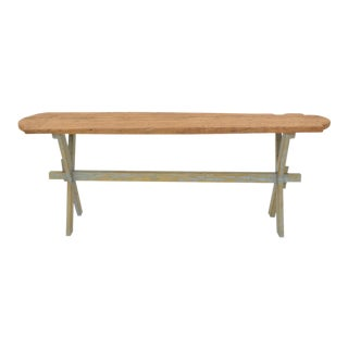 Sarreid Ltd Rustic Floor Board Console Table For Sale