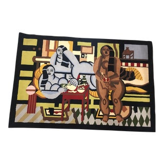 """Three Women"" Rug Designed by Fernand Léger - 6′6″ × 9′10″ For Sale"