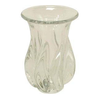 1970s Sevres Spiral Body Crystal Vase. For Sale