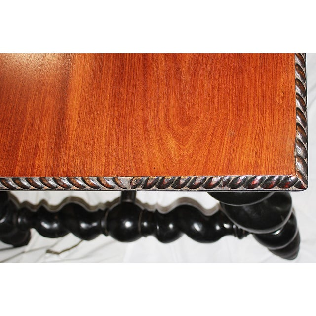 Black American Barley Twist Writing Desk For Sale - Image 8 of 11