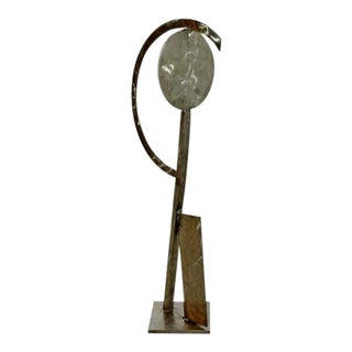 Contemporary Stainless Steel Abstract Table Floor Sculpture by Robert Hansen For Sale