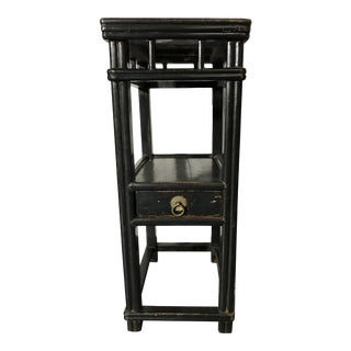19th Century Chinese Black Lacquered Side Table For Sale
