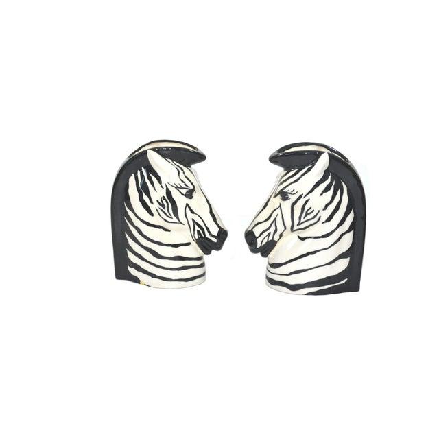 Art Deco Vintage Zebra Head Vase - A Pair For Sale - Image 3 of 10