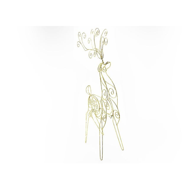 Vintage Tall Wire Christmas Reindeer - Image 3 of 5