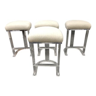 Carmichael Designs Lucite Counter Stools, Set of Four For Sale