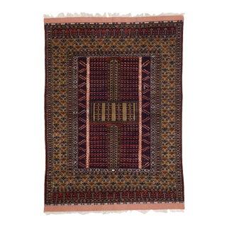 Mid-Century Modern Style Vintage Afghani Rug with Tribal Design