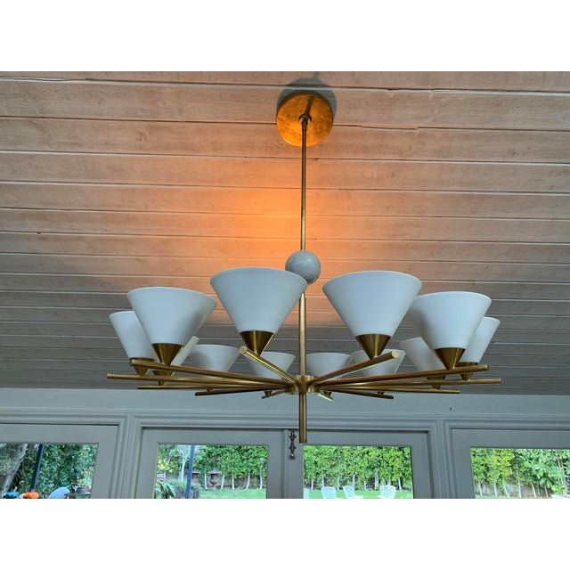 2010s Contemporary Brass Chandelier - Cleo For Sale - Image 5 of 7