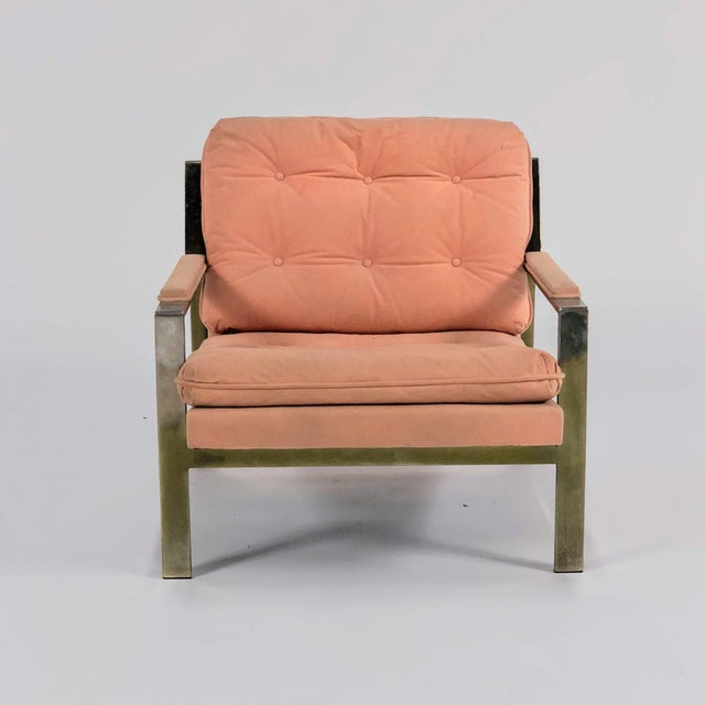 Mid-Century Modern 1970s Mid-Century Modern Cy Mann Peach Lounge Chair For Sale - Image 3 of 6