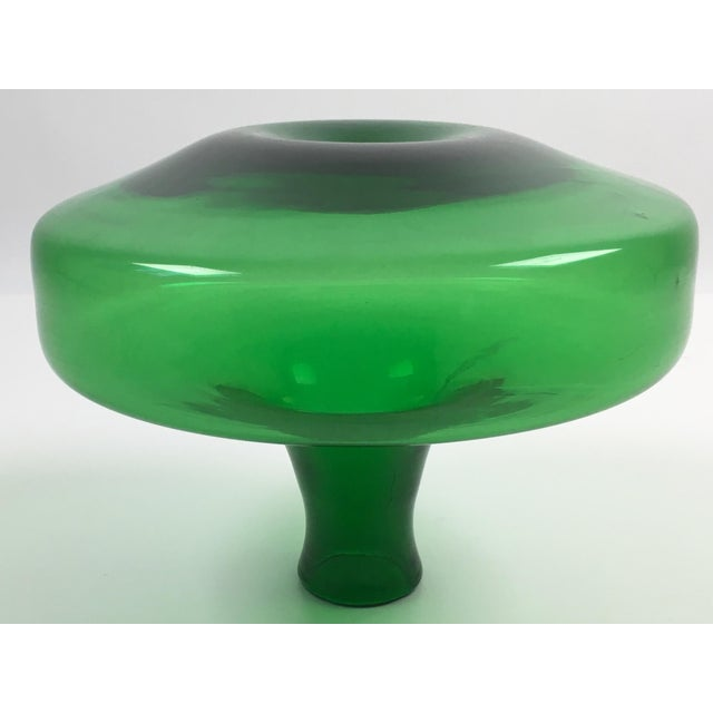 Mid-Century Modern Blenko Green Glass Decanter - Image 6 of 7