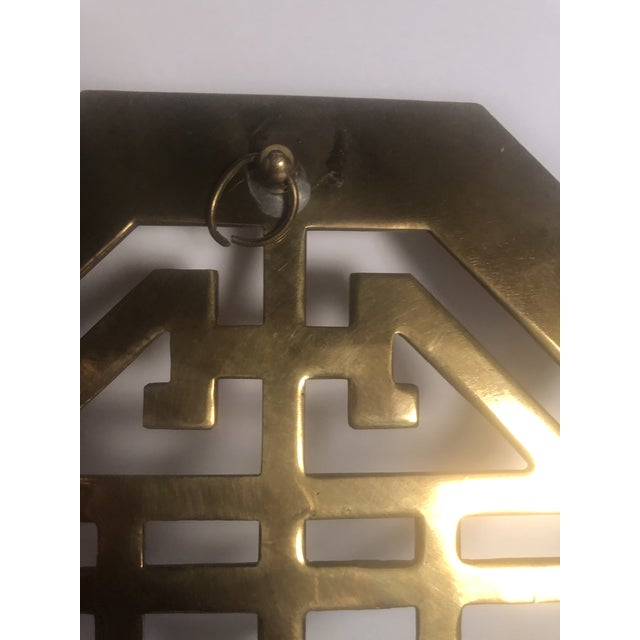 Brass Mid-Century Wall Brass Candleholders - a Pair For Sale - Image 7 of 10