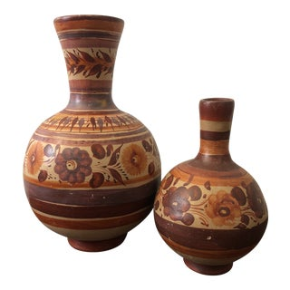 Boho Chic Mexican Water Jugs - a Pair For Sale