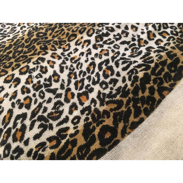 Large Thin Leopard Cashmere Throw - Image 8 of 10