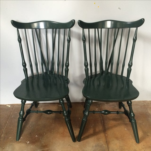 Windsor Lacquer Side Chairs - A Pair - Image 2 of 8
