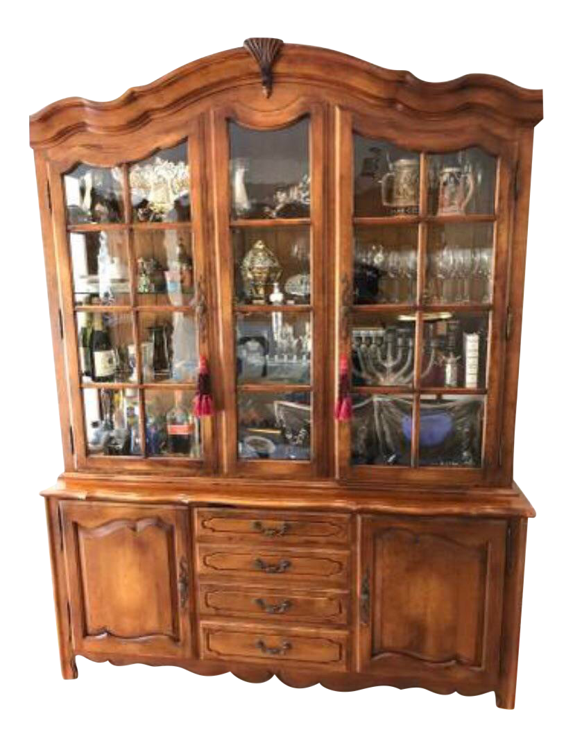 Vintage Used Ethan Allen China And Display Cabinets Chairish