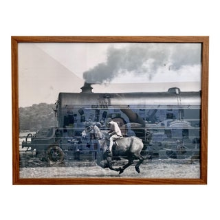 1990s Mary Maguire Horse and Train Print For Sale