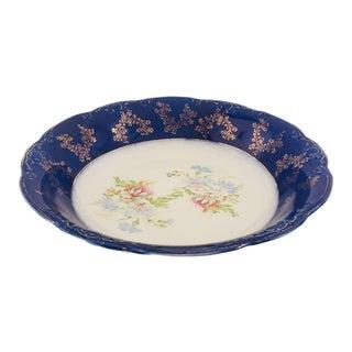Antique English Wood & Son Porcelain Floral Serving Bowl For Sale