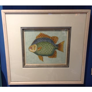 "Custom ""Tropical Fish"" Framed Colored Lithograph Print For Sale"