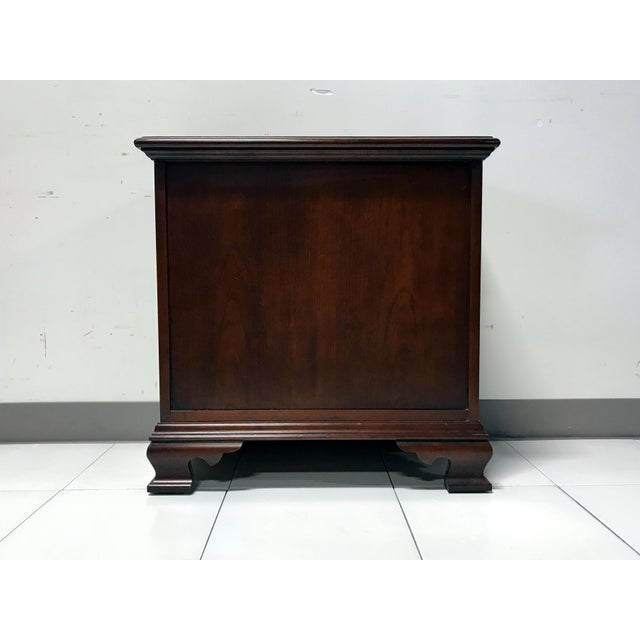 JF Delwood Solid Cherry Chippendale Chairside Chest - Image 9 of 11