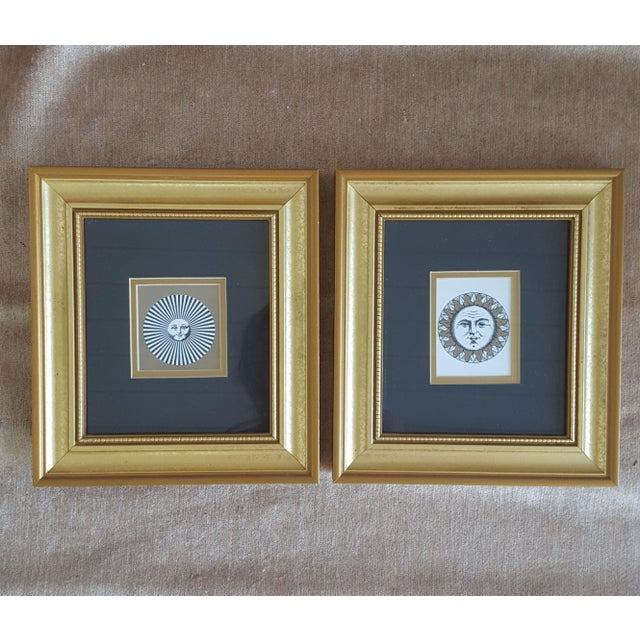 Vintage Piero Fornasetti Sun Prints Framed and Matted - a Pair ...
